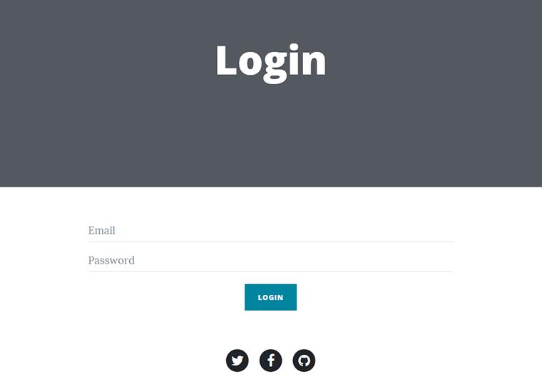 user login page