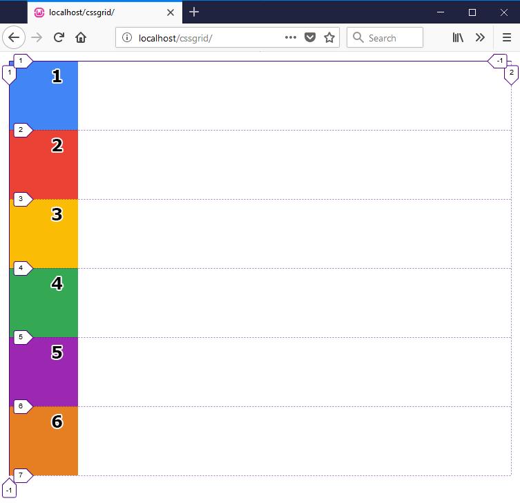 display grid