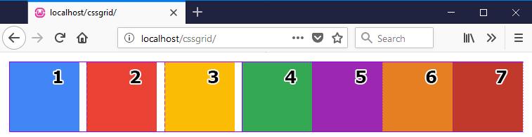 grid-auto-flow column example