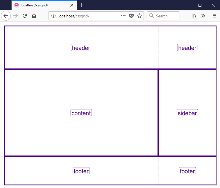 grid-template-areas example