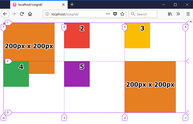 grid-template-rows minmax example