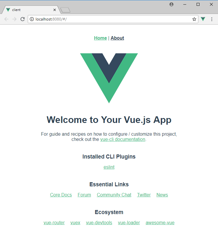 vue cli 3 npm run serve