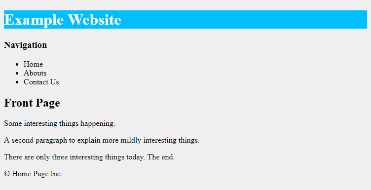 body page css background color example