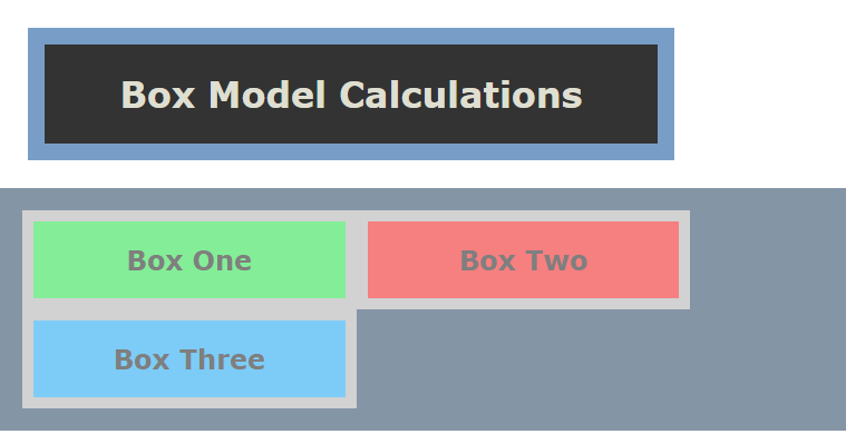 box model calculation example