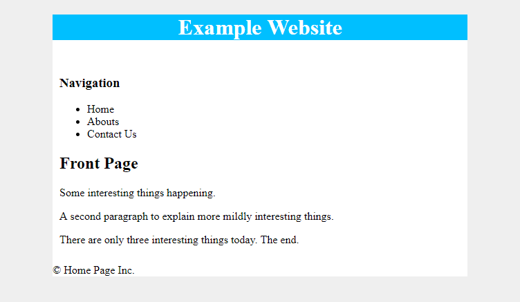 css padding example on content