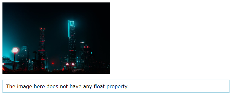 image stacked on paragraph no float