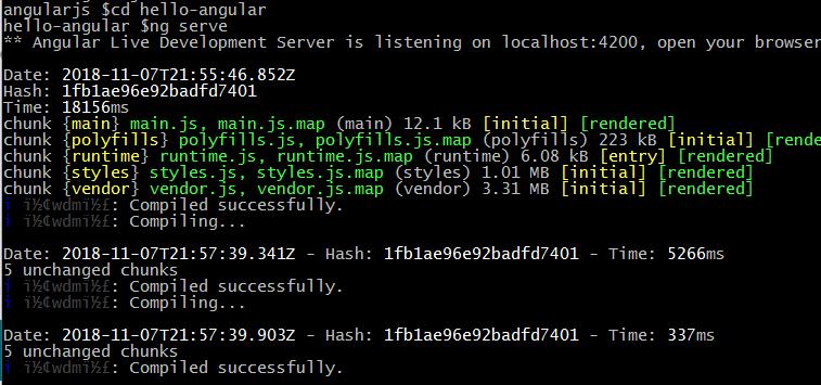 ng serve re compile hot reload