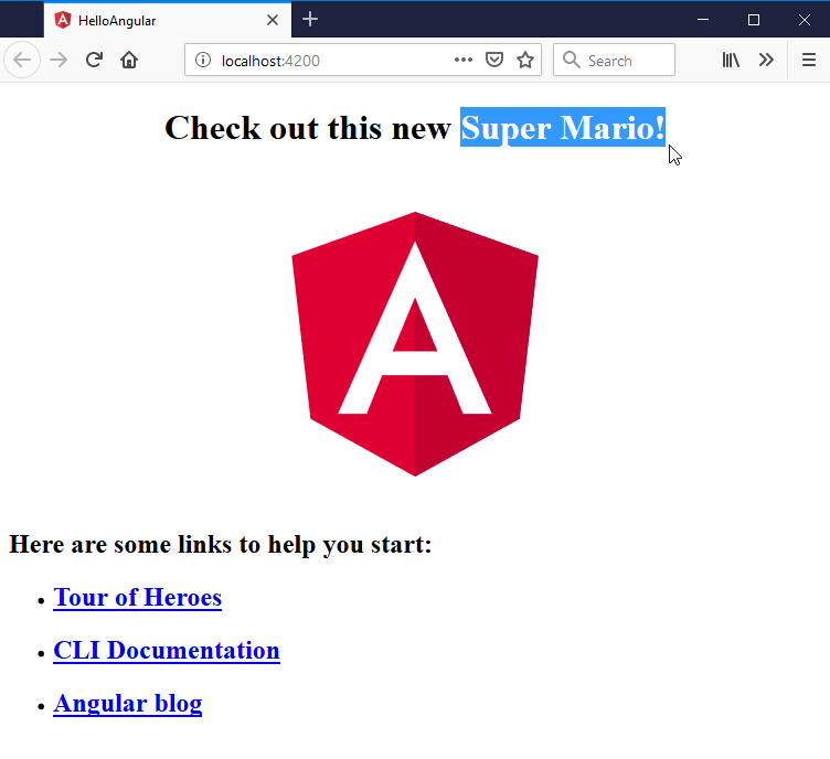 updating the title of an angular app