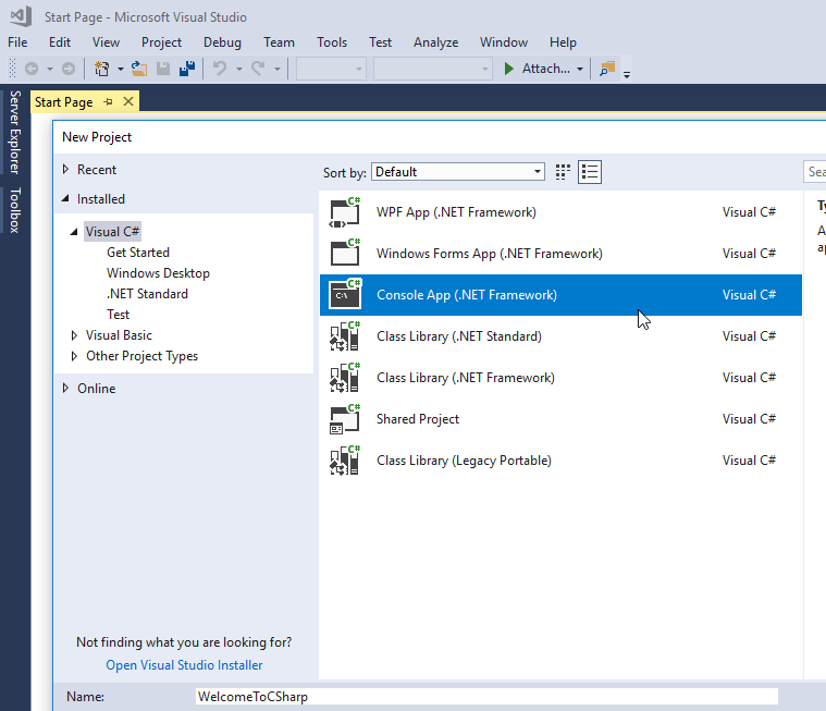 Microsoft Visual Studio Console Application