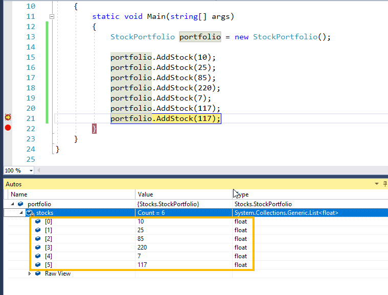 Visual Studio Start Debugging Example