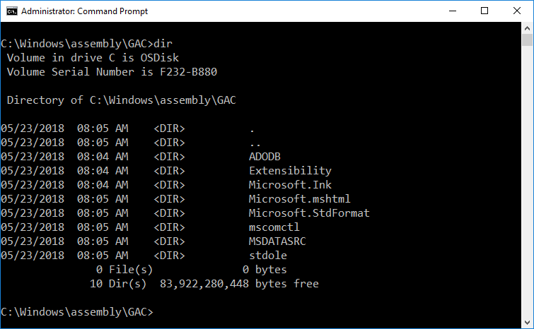 Windows Global Assembly Cache