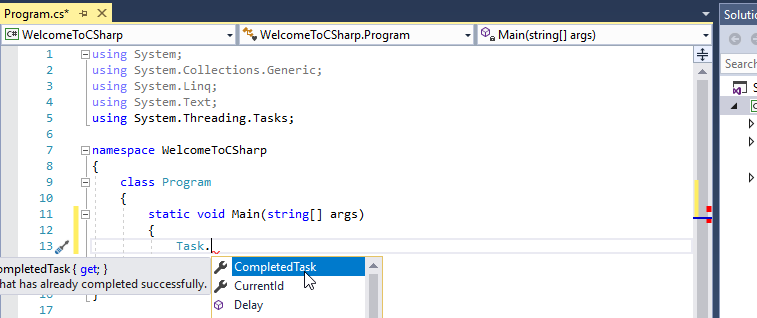 csharp used and non-used namespaces
