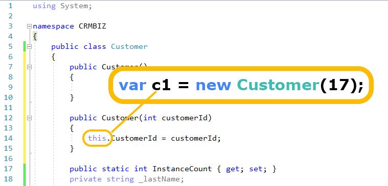 cómo funciona C # esta palabra clave
