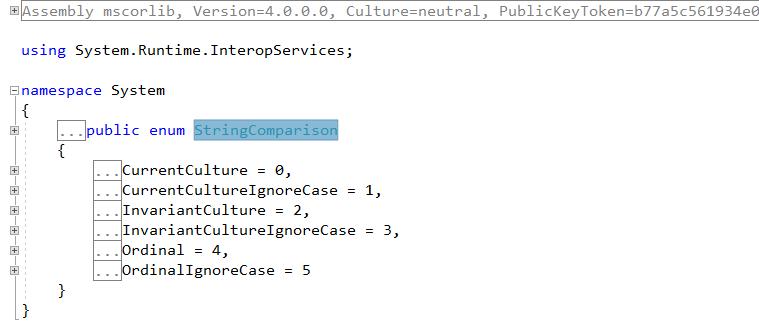 metadata stringcomparison enum