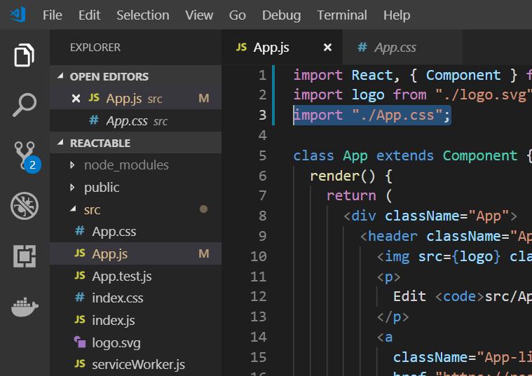 app-css for create react app