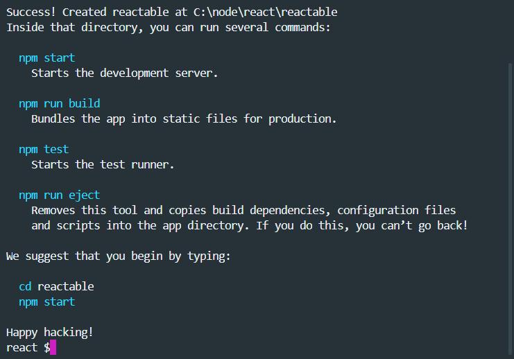 npm create-react-app