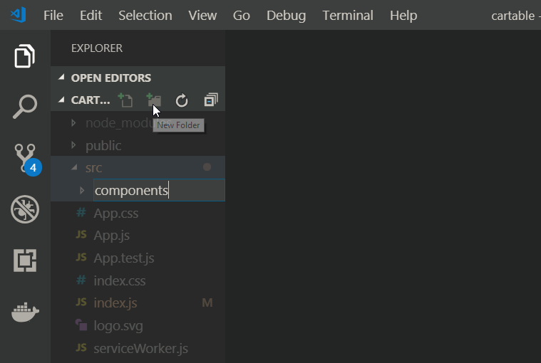 react components folder