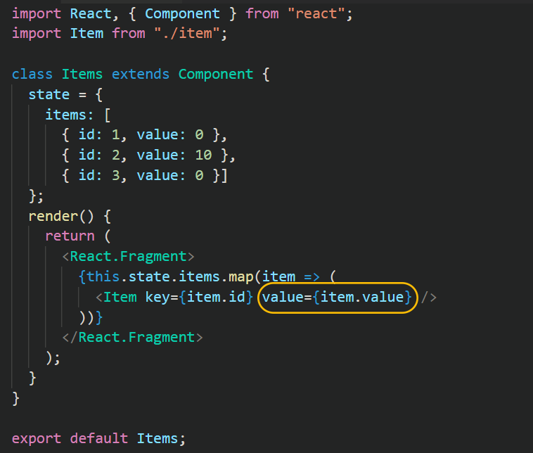 react set attribute prop