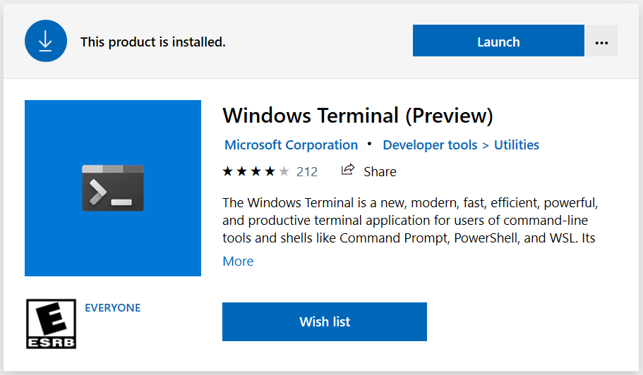 Get New Windows Terminal From Microsoft Store