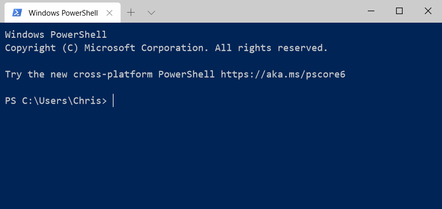 Windows Powershell In New Terminal