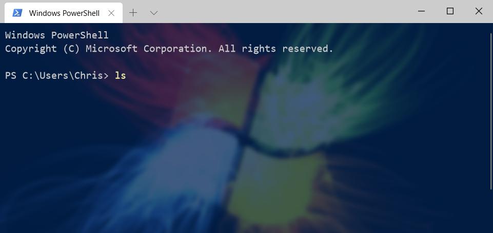 WindowsTerminal custom background image