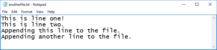python append file example