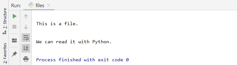 python file read output