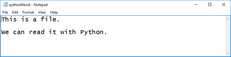 python text file