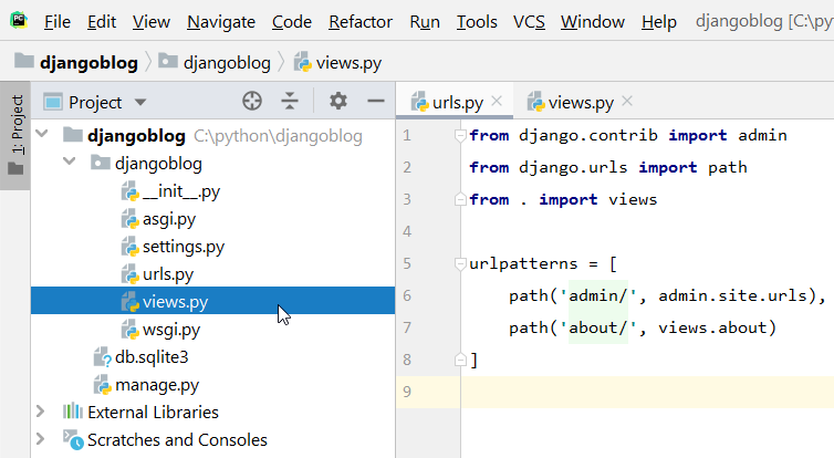 create viewspy in djangoblog