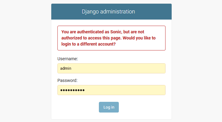 Django user account login