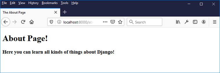 django about html page