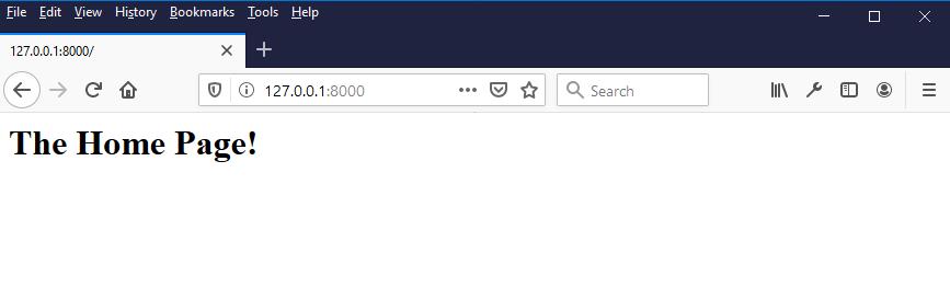 django configure url home page