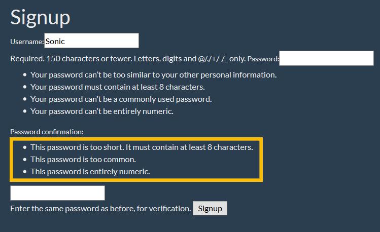 django form automatic validation