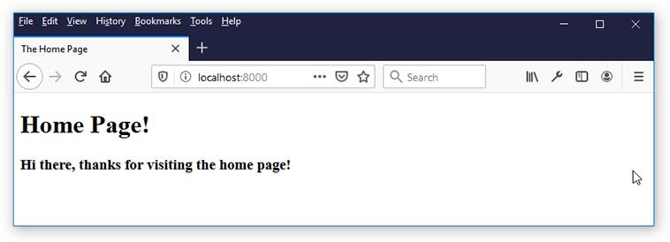 django render html home page
