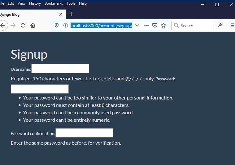 django usercreationform output
