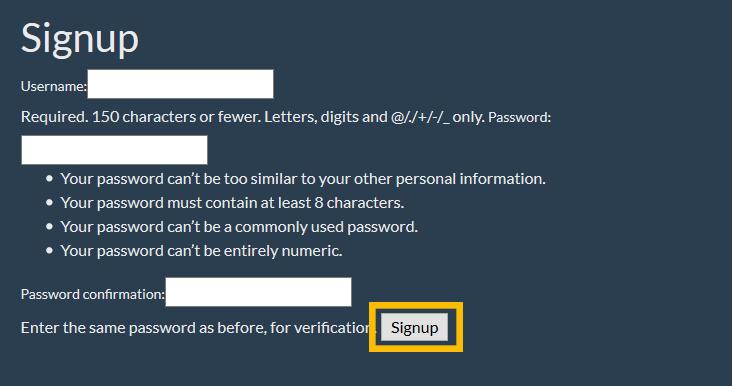 django usercreationform submit button