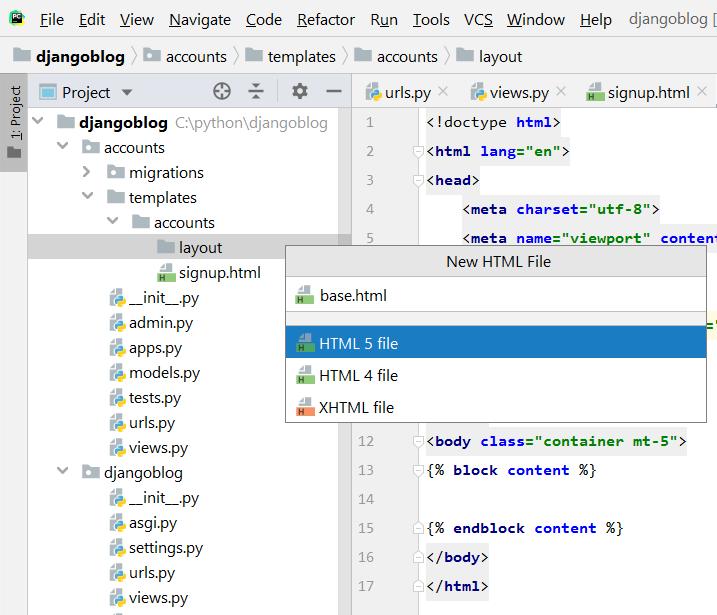 extend base html django