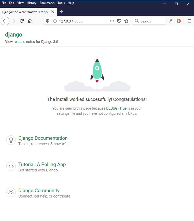 django virtual environment