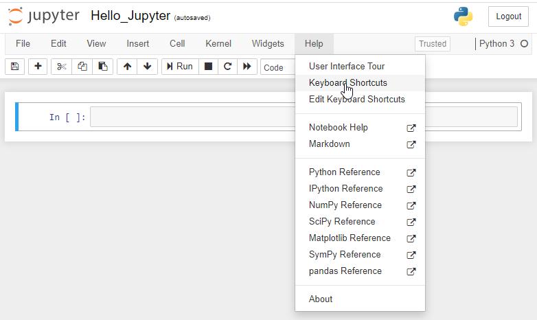 enumerar todos los atajos de teclado de jupyter