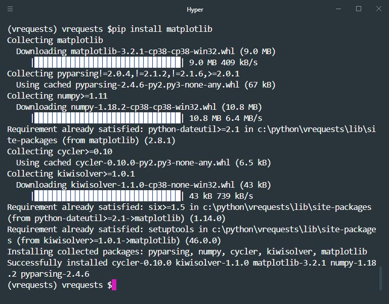 pip install matplotlib