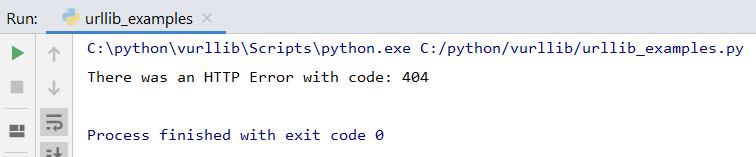 intente excepto Python urllib