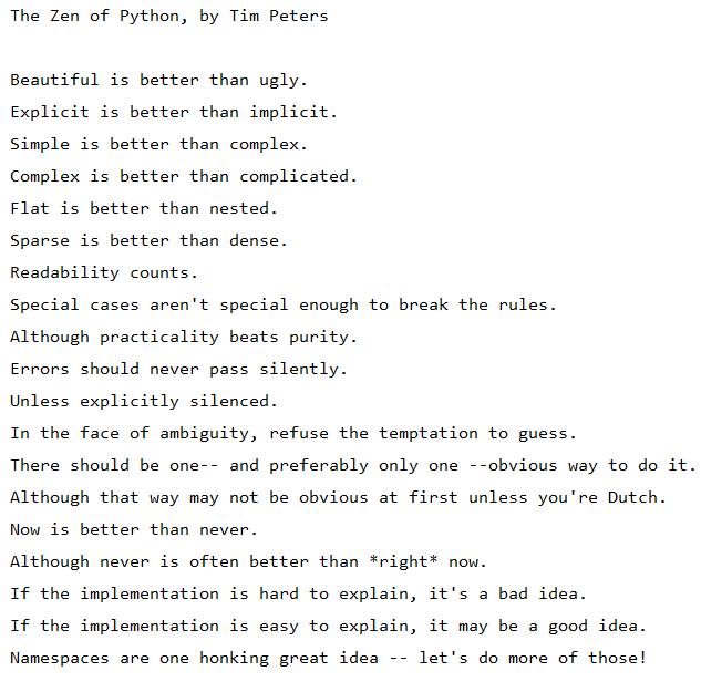 The Zen Of Python