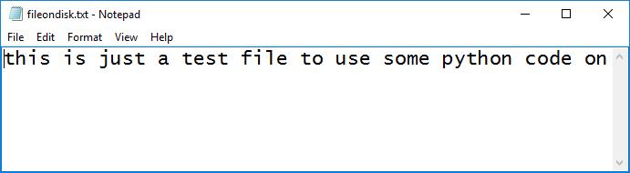 python file on disk