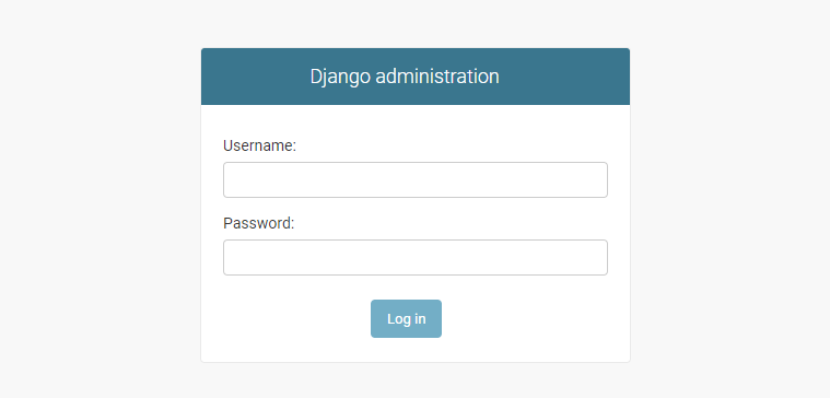 django built in admin login