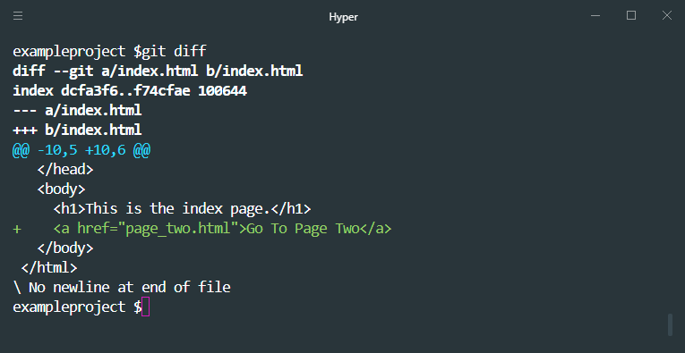 how to use git diff