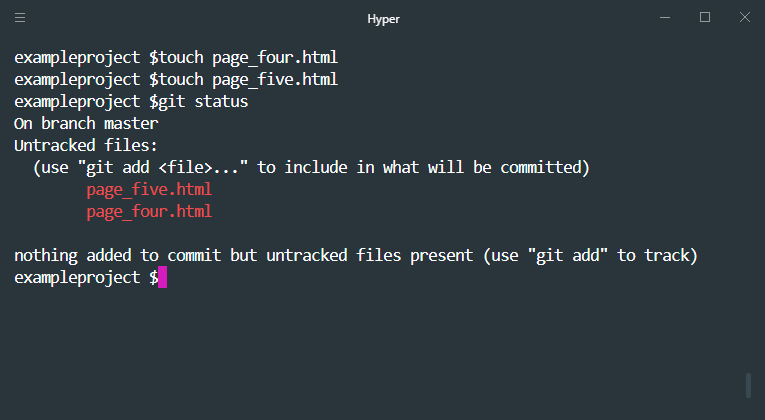 two untracked files in git