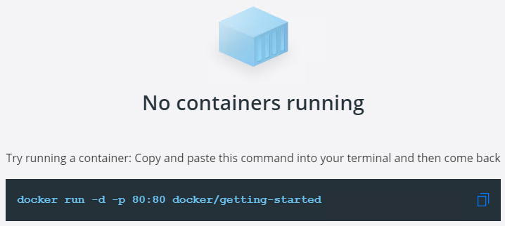 docker getting started