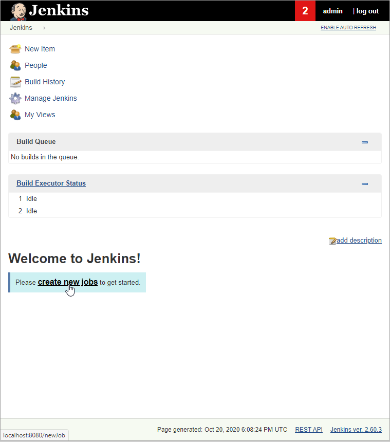 jenkins docker create new job