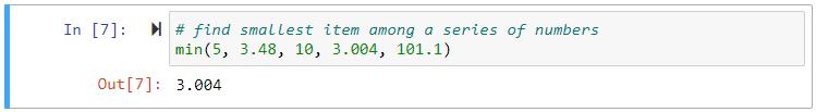 min series numbers