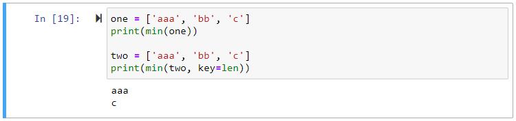 min using key